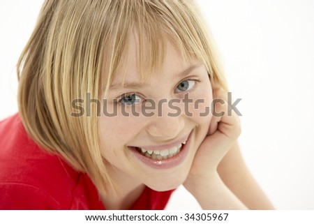 Portrait Of Smiling Young Girl - stock photo