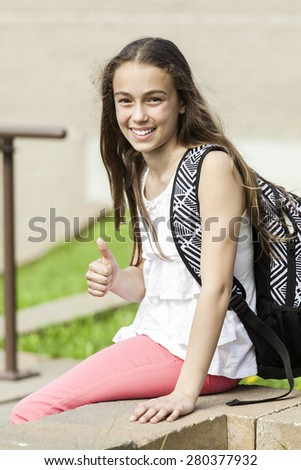 Portrait of student - stock photo