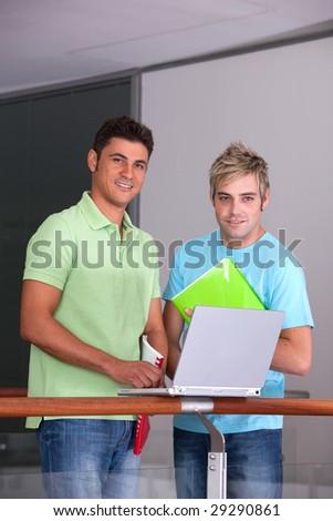 Portrait of study group - stock photo