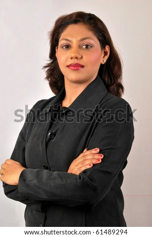 Portrait of successful confident Indian business woman - stock photo