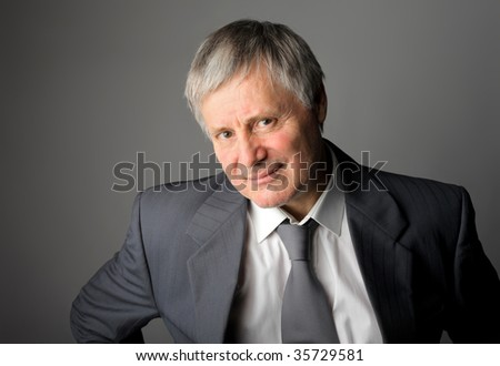 portrait of successful senior man - stock photo