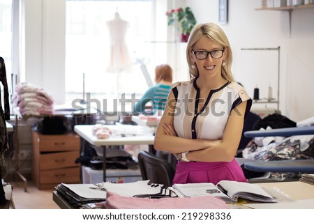 Portrait of successful small business owner - stock photo