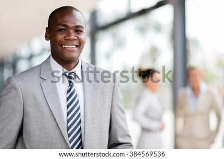 portrait of successful young afro american business man - stock photo