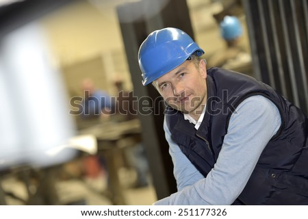 Portrait of supervisor in industrial factory