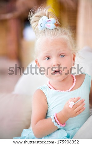 Portrait of surprised little girl