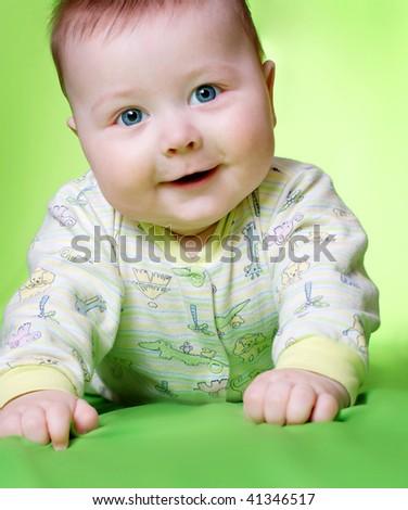portrait of sweet baby - stock photo