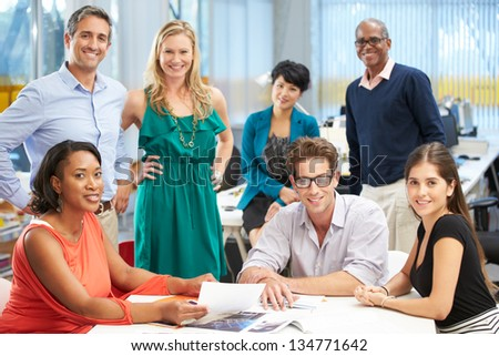 Portrait Of Team In Creative Office - stock photo