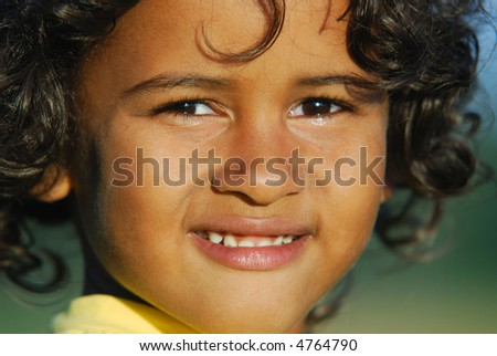 Portrait of the boy of the metis - stock photo