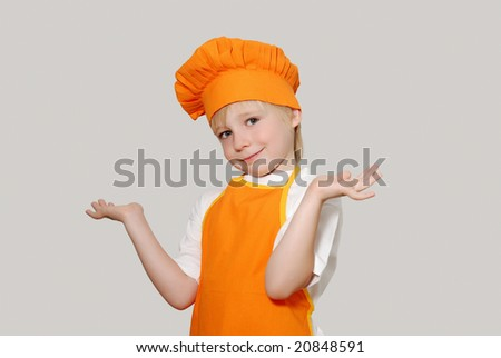 Portrait of the little cook