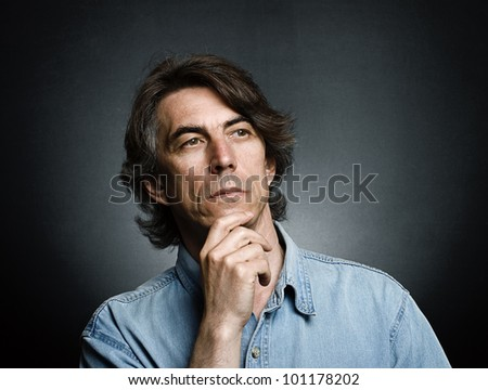 Portrait of the men - stock photo