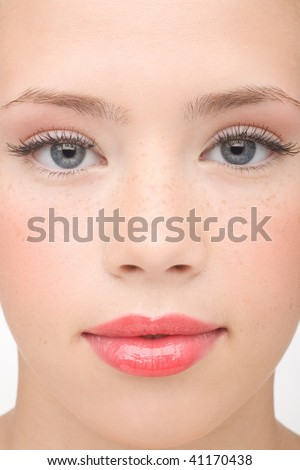 Portrait of the young girl - stock photo