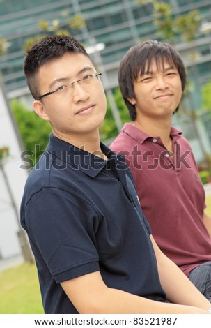 Portrait of two asia man