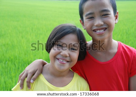 Portrait of two children.