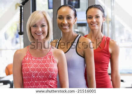 Portrait Of Women At Gym