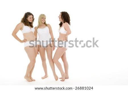 Portrait Of Women In Their Underwear - stock photo