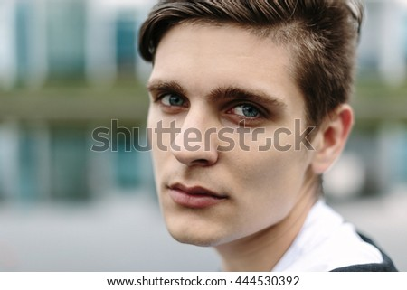portrait of youn man isolated - stock photo