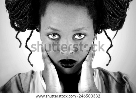 Portrait of young African girl - stock photo