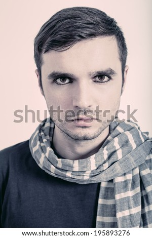Portrait of young artist. - stock photo