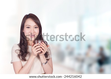 Portrait of young asia businessman 30 - 40 year old in office - stock photo