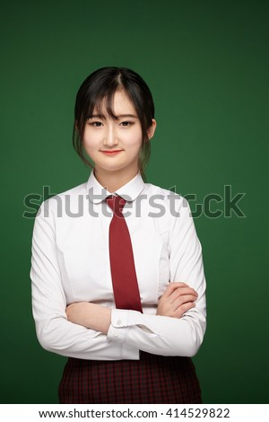 portrait of young asian student  - stock photo