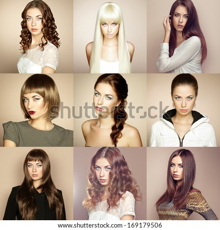 collage hair style collage stock images royalty free images amp vectors 6787
