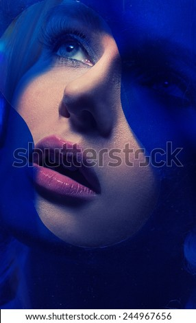 Portrait of young beauty female - stock photo