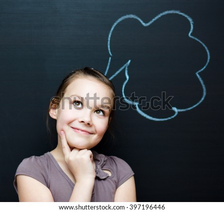 Portrait of young businesswoman in office. Success, creative and innovation concept - stock photo