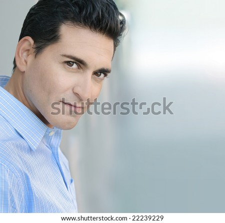 Portrait of young confident businessman - stock photo