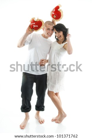 Portrait of young couple. - stock photo