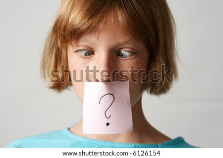 Portrait of young  girl with colorful funny stickers