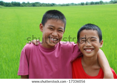 Portrait of young happy boys.