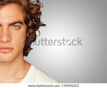 Portrait Of Young Man, Indoor - stock photo
