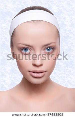 Portrait of young woman with health skin