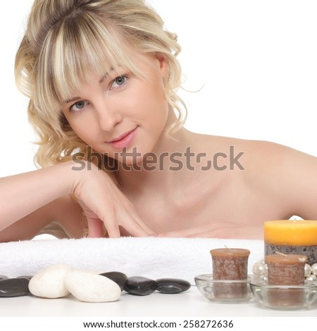 portrait picture of beautiful woman - stock photo