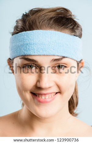 portrait real people high definition blue background