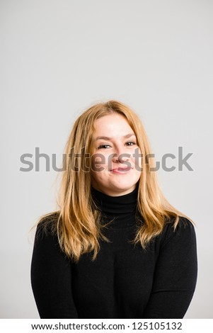portrait real people high definition grey background - stock photo