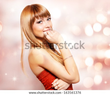 Portrait with positive emotions - stock photo