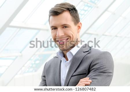 Portrait young businessman - stock photo