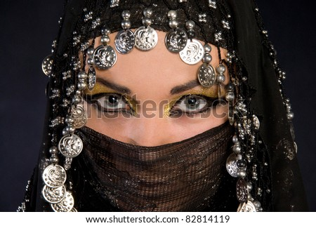 Portret of beautiful arabic girl - stock photo