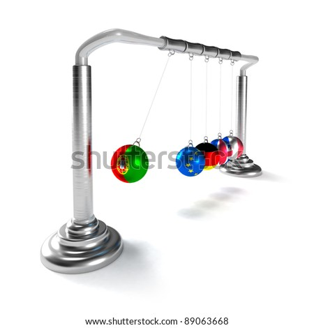 Portugal economy is breaking the economies of developed countries of European Union (concept) - stock photo