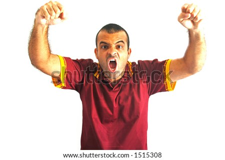 Portugal Fan isolated - stock photo