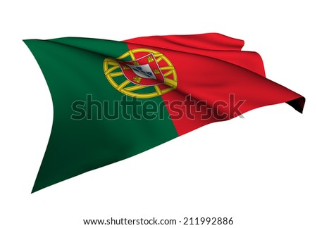 Portugal flag - collection no_5  - stock photo