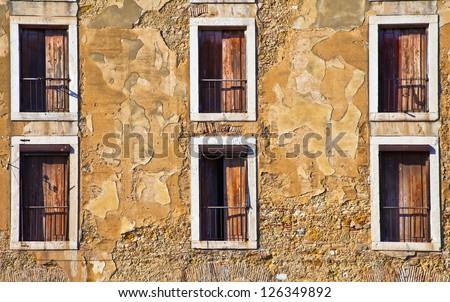 Portugal, Lissbon Windows. Cityscape closeup - stock photo