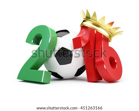 Portugal winner of the 2016 football.3d Illustrations on a white background - stock photo