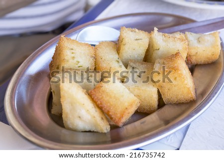 Portugese Milho fritto oder frito - stock photo