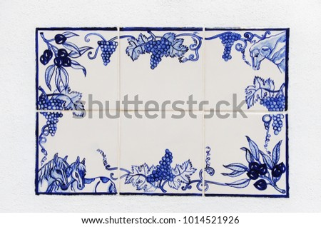 "Portuguese blue and white ceramic ""azulejo"" tiles"