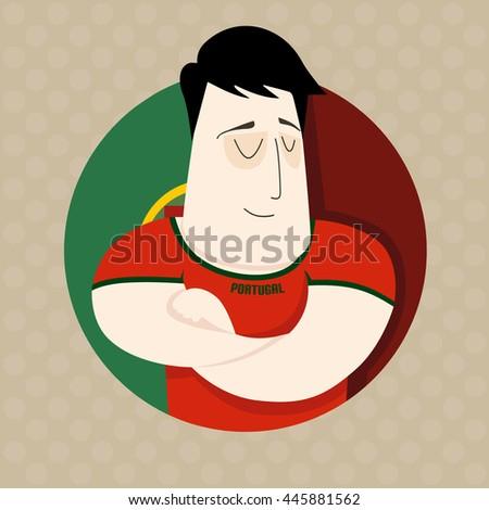 Portuguese football player  - stock photo