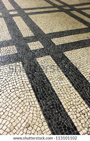 Portuguese Pavement - stock photo