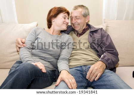posing couple - stock photo