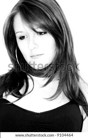 posing girl - stock photo